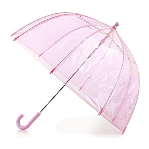 totes Kids Clear Bubble Umbrella with Easy Grip Handle, Pink