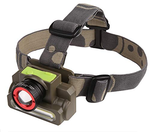 DOCOSS-2 in 1 -Zoomable Ultra Bright Waterproof Cree Rechargeable Headlamp Headlight Head Torch...