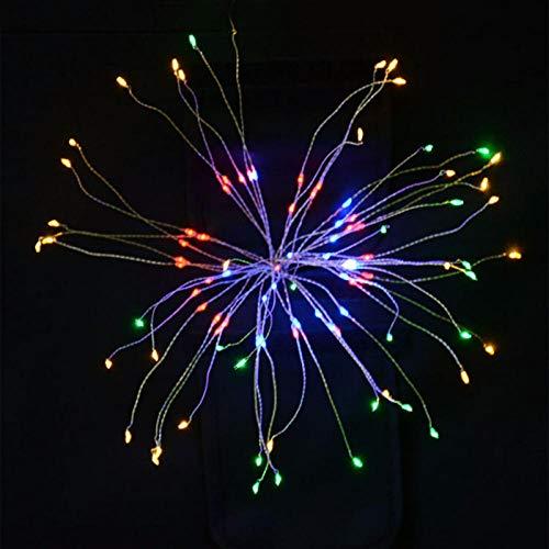 Garland Lights Feuerwerk im Freien Weihnachtslichter Power 100-180 LED String Kupferdraht Lichterketten Xmas Party Decor Lampe Twinkle-farbenfrohe_Russian_Federation_100LEDs