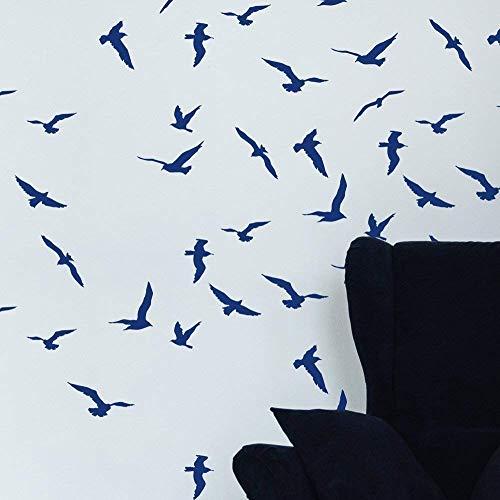 STENCILIT Sturmvögel Wandschablone Groß Kinderzimmer- Wanddekoration Wohnzimmer - Schablone Möbel - Stencil Schablonen Wand - Wand Deko