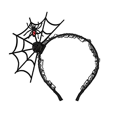 Amazon - Save 60%: JIALWEN Halloween Spider Headband Spiderweb Hair Hoop Halloween Party Co…