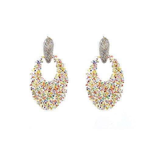 Nieuw sieraad voor vrouwen Fashion Star Street Shooting oorbellen creatieve sfeer hars oorbellen transparant kleurrijk poeder goud mode accessoires oorbellen