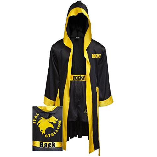 Rocky Balboa schwarz Movie Italian Stallion Boxing Robe