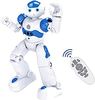High-tech Artificial Intelligence Robot, Smart RC Robot Toy for Kids, Gesture Sensing Robot with Voice Control, Interactive Robots Dancing Walking, Christmas & Birthday Gift for Boys & Girls