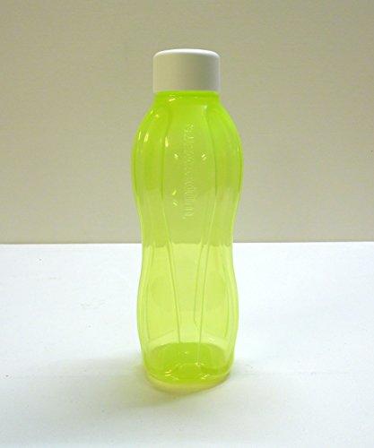 TW TUPPERWARE Eco Flasche 750ml Limette Trinkflasche Ökoflasche Flasche Schraubverschluß weiß