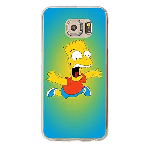 Bar-T Simp-Son Galaxy S6 Case,Samsung S6 Case, Anti-Scratch Flexible TPU Protective Skin Cover Case Transparent
