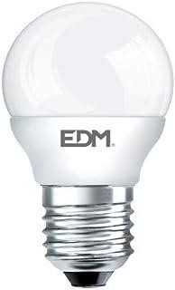 Edm 98321 Bombilla Esferica Led, Luz Calida