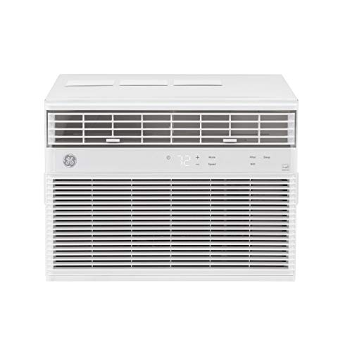 GE 8,000 BTU Smart Window Air Conditioner, Cools up to 350 sq. Ft, Easy Install Kit Included, Energy Star Certified, White