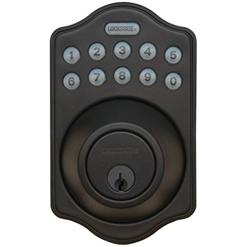 LockState LS-DB500-RB Electronic Keyless Deadbolt, Oil Rubbed Bronze