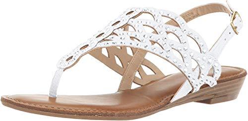 ZIGIny Womens Mariane Fabric Split Toe Casual Slingback, Silver, Size 8.0