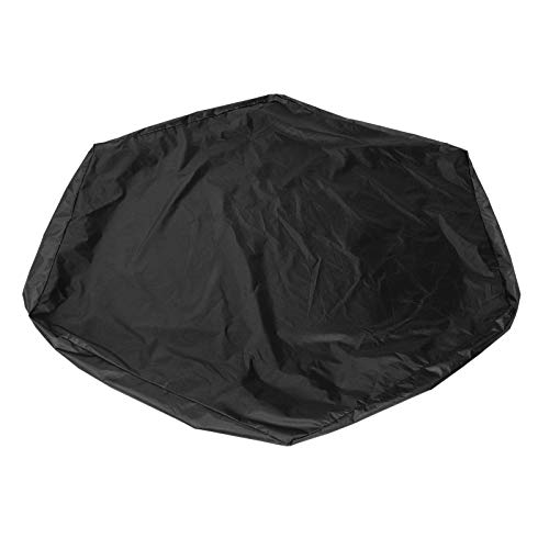 LONGZHUO SAND PIT COVER 방수 육각형 어린이 모래 구덩이 보호대 정원 목욕 풀 선 쉐이드(블랙)