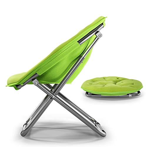 Sofà pigro Green Moon Piattino Pieghevole Moon Chair - Lazy Sofa Chair per Interni/Casa/Camera da Letto/Balcone/Dormitorio, Struttura in Metallo