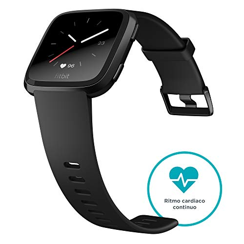 Fitbit Versa Smartwatch Deportivo, Negro / Gris: Fitbit: Amazon.es ...