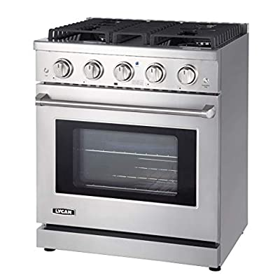 LYCAN Professional Gas Range Cook Top - Heavy D...