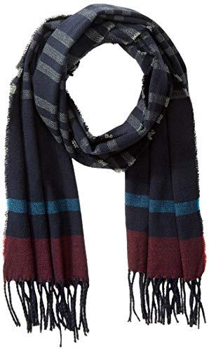 Springfield Buf Inters Plana Rayas-C/12 sjaal, blauw (Medium_Blue 12), één maat (maat van de fabrikant: U) voor heren