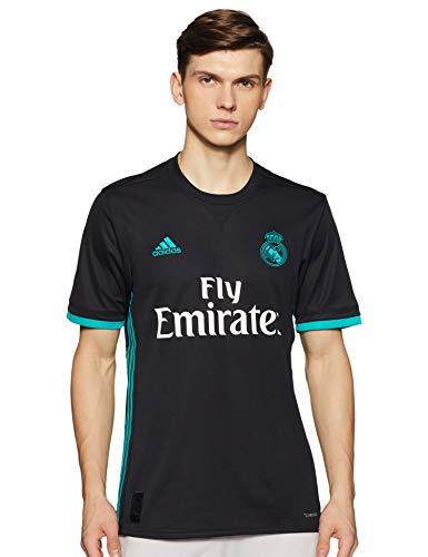 adidas A JSY Camiseta 2ª Equipación Real Madrid 2017-2018, Hombre, Negro (Negro/Arraer), S