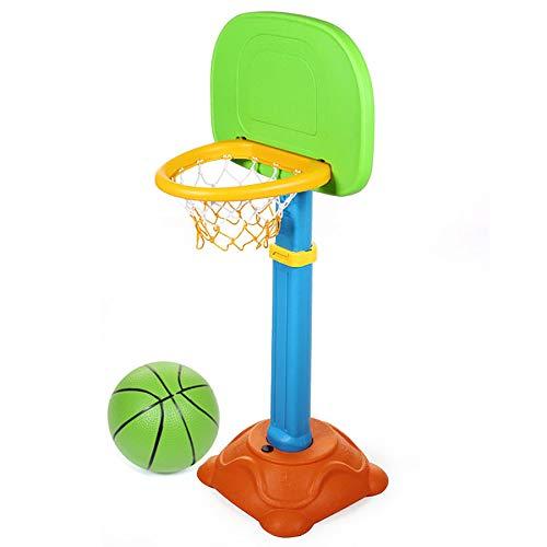XLanY Juguete Educativo De Aro con Soporte De Baloncesto Portátil Extraíble, Juguete Deportivo De Plástico para Niños, Juego De Baloncesto, Equipo De Ejercicio Al Aire Libre Ajustable, Móvil, Regalo