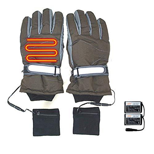 KuaiKeFsport Guantes Moto Calefactables,Guantes Bici Moto Invierno para Hombre y Mujer,Guantes Calefactables con Bateria Aptos para Esquí al Aire Libre Equitación Conducción y Escalada