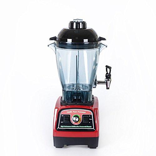 Smoothie-Mixer, 2800 Watt Smoothie Maker, Gewerblicher Mixer, Hochgeschwindigkeits-Krug-Mixer-Maschine 57000 U/min, Funktionseismixer mit Tamper, 6 scharfe Klingen, Schwarz, Geschwindigkeitsregler