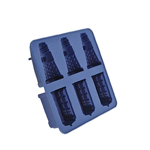 Nicetruc Silikon-EIS-würfel-behälter Tardis & Daleks Moulds Praline-plätzchen-Form-Hersteller DIY Bar-Party-getränk Backen-Werkzeuge