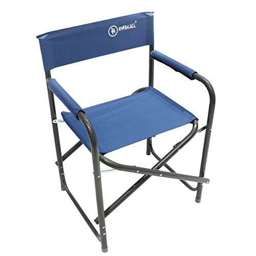 Homecall Steel Folding camping director chair with 600D polyester blue