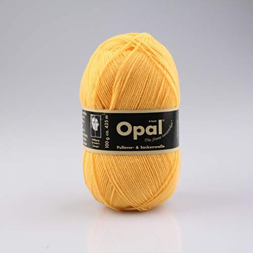 Opal uni 4-fach - 5182 sonnengelb - 100g Sockenwolle