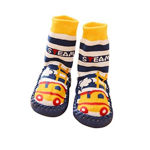 Mignon bébé tout-petits Chaussettes de plancher antidérapantes Chaussettes Chaussures pour enfants 1 paire, train