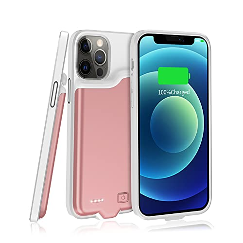 Battery Case for iPhone 12 Pro Max (5500mAh) TAYUZH Rechargeable Portable Charging Case Extended Charger Cover Compatible with iPhone 12 Pro Max (6.7 inch)