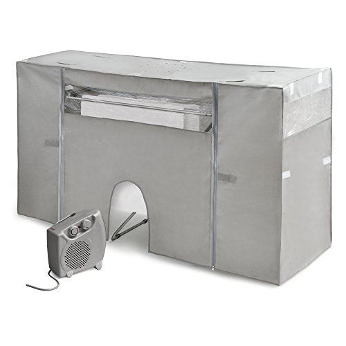Rayen 6175 droogrek met radiator, stof niet geweven, grijs, 105-180 x 56 x 106 cm