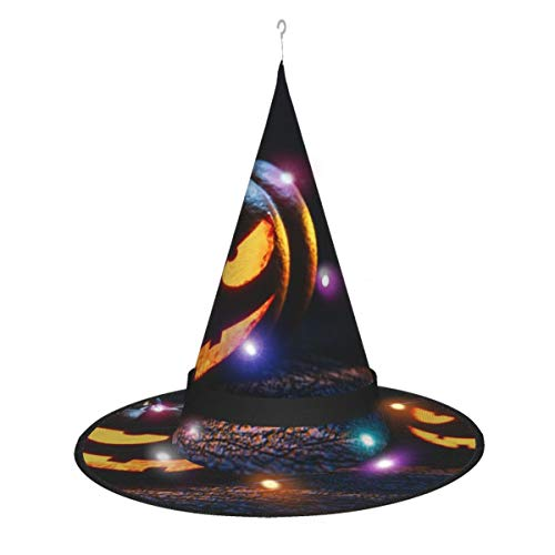 Dihui Pumpkin Lantern Candle Art Festival Flag Lantern. Halloween Glowing Hat, Outdoor, Garden, Trees, Party Decoration, Outdoor Halloween Decorations, Witch Hat with Lights.