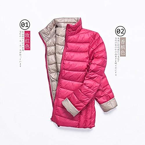 YRFHQB winterjas vrouwen ultralicht donsjack wit donsjas lange mouwen warme parka vrouwelijk draagbare double side outwear