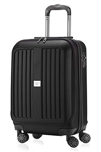 HAUPTSTADTKOFFER - X-Berg - Handgepäck Koffer Trolley Hartschalenkoffer, TSA, 55 cm, 42 Liter, Schwarz