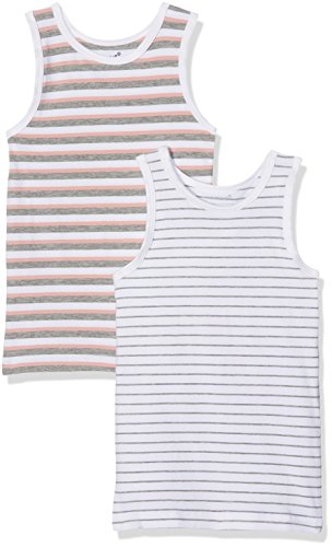 Name It Nmftank Top 2p Mel Noos Maillot De Corps, Multicolore (Grey Melange Grey Melange), 98 (Lot de 2) Bébé Fille