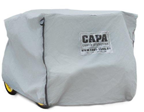 CAPA Schutzhaube für Pferdekutschen als Kutschen Abdeckung, Schirm und Schutz sowie Schutzhülle für kleine Wagonette in grau Typ CC-03