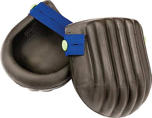 Knieschoner aus PU-Schaumstoff mit elastischem Riemen 1 Paar Schwarz/Blau