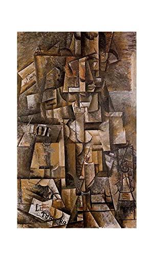 El aficionado de Pablo Picasso Cuadro Decoración Pared Cuadros Famoso Para Dormitorios Modernos Lienzo Cuadros Decorativos Decoracion de Salones (70x115cm28x45inch, sin marco)