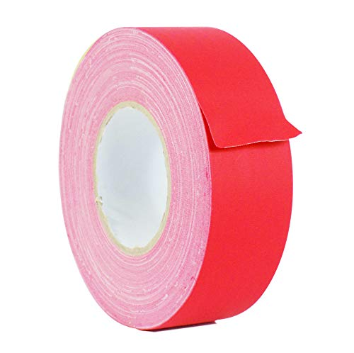 WOD GTC12 Gaffer Tape, Red Low Gloss Finish Film, 2 inch x 60 yds. Residue Free, Non Reflective Cloth Fabric, Secure Cords, Water Resistant, Photography, Filming Backdrop, Production