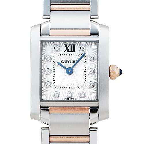 カルティエ Cartier タンク フランセーズ SM WE110004 シルバー文字盤 中古 腕時計 レディース (W203510) [並行輸入品]
