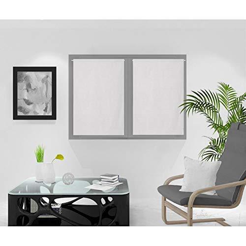 Soleil d'ocre Rideaux Brise-bise, Blanc, 60 x 90 cm