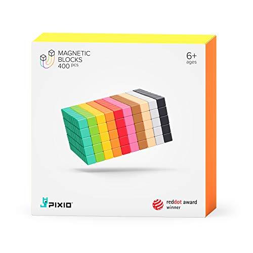 PIXIO-400 Magnetic Building Blocks for Kids - Design Series Magnetic Blocks Building Toys - Magnetic Cubes Toy Building Sets - Cube Magnets for Kids - Magnet Blocks for Kids - Open Ended STEM Toys