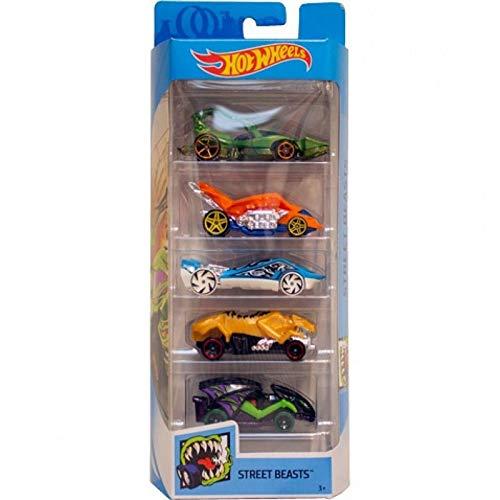 Hot Wheels - Pack de 5 vehículos (modelos variados) (Mattel 1806) , color/modelo surtido