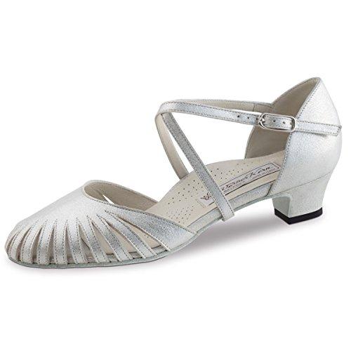 Farbe Made in Italy Werner Kern Damen Tanzschuhe Betty 6,5 Silber//Multi