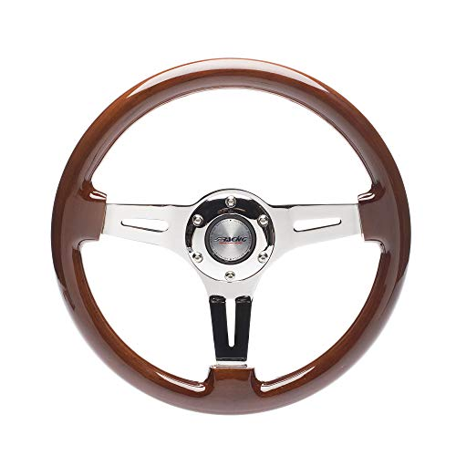 Simoni Racing DIJ350/W Dijon Universal Steering Wheel, Wood
