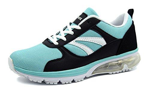 Knixmax-Zapatillas de Running para Mujer, Zapatillas de Deportivas para Correr Al Aire Libre Zapatos Gimnasia Ligero Fitness Casual Sneakers Zapatillas Ligeras Cómodas EU41 (UK8) Light Blue