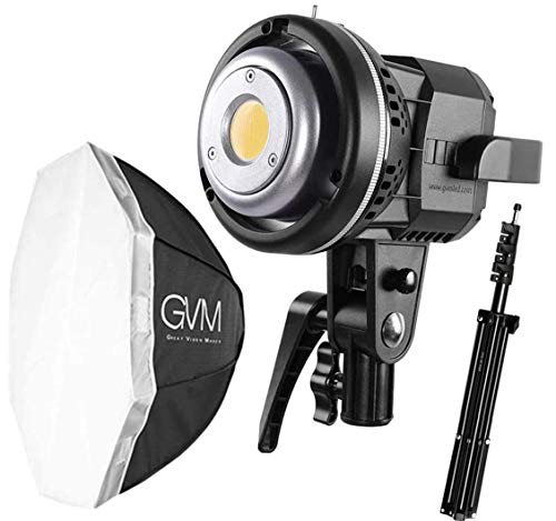 GVM 80W Video Lighting Kit, Continuous Output Lighting Kit, Professional Studio Photography Softbox Lighting Kit, 5600K Daylight LED Video Light Bowens Mount for Portrait Product Fashion Photography