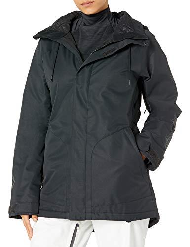 Volcom Westland - Chaqueta con capucha para mujer con aislamiento para snowboard, color negro, XS