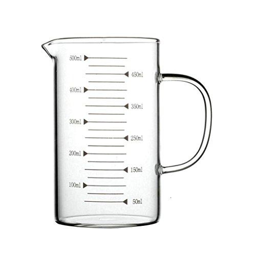 GuDoQi 17 Oz Verre Mesureur Poignée Ergonomique À Paroi Épaisse Mesures Transparentes Four Et Congélateur Disponible Adapté À La Cuisson Liquide Versant