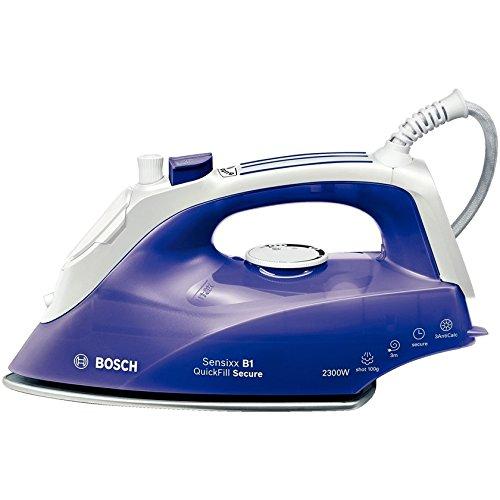 Bosch TDA2680 - Plancha (Plancha vapor-seco, Suela de paladio, 3 m, 100 g/min, Violeta, Blanco, 0,29 L)