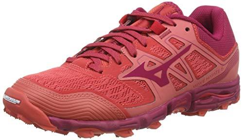 Mizuno Wave Hayate 6, Zapatillas de Running para Asfalto para Mujer, Rojo (Cayenne/Cherriesjubilee 62), 39 EU