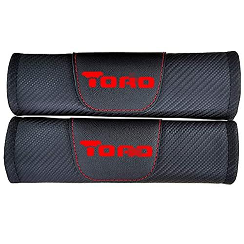 2 Piezas Hombreras Cubierta Cinturón Seguridad Automóvil Para Fiat Toro, Fibra Carbón Almohadilla Hombro Correa Cinturón Seguridad Cojines Hombro Mangas Protectoras Confort Suave